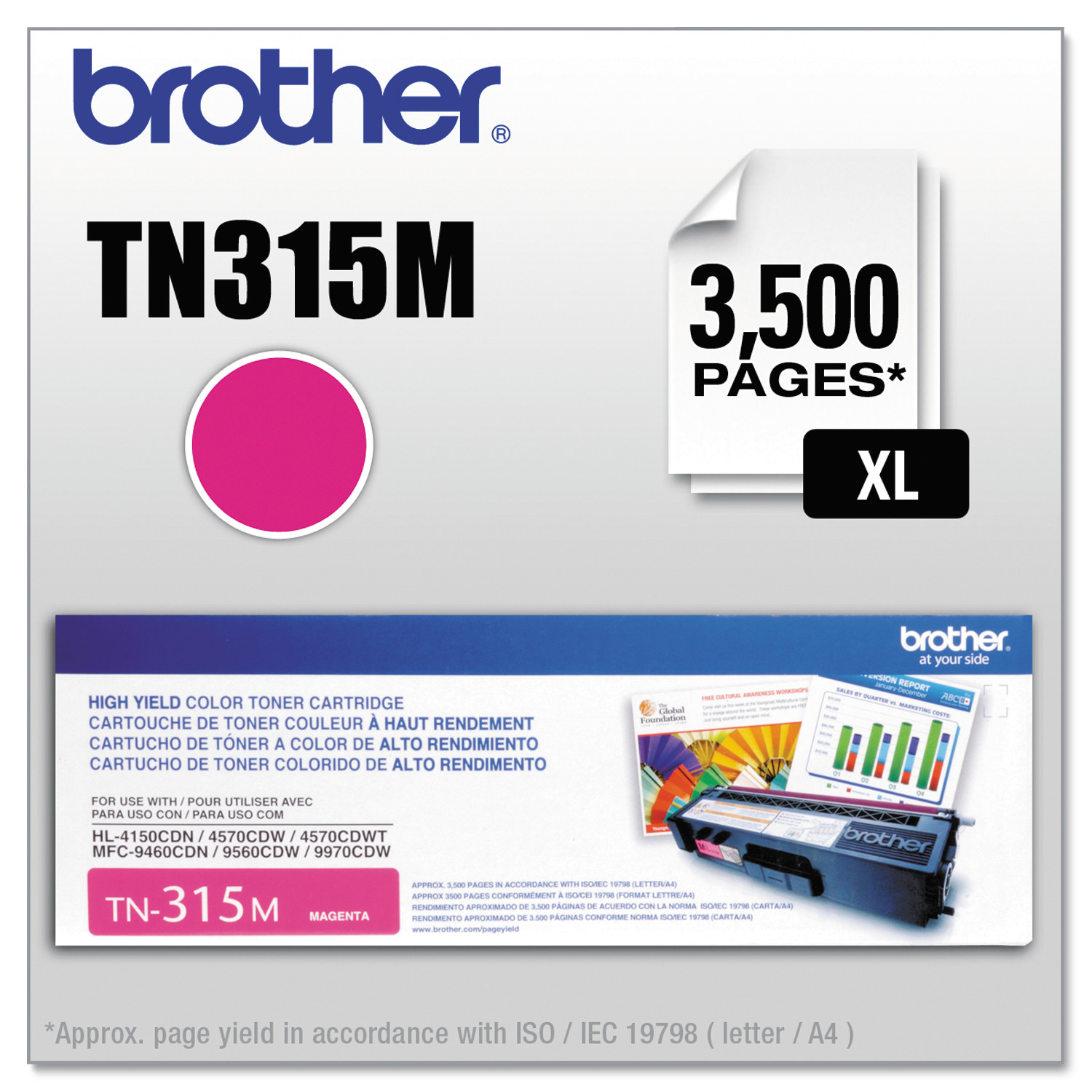 Brother TN315M High-Yield Toner, Magenta