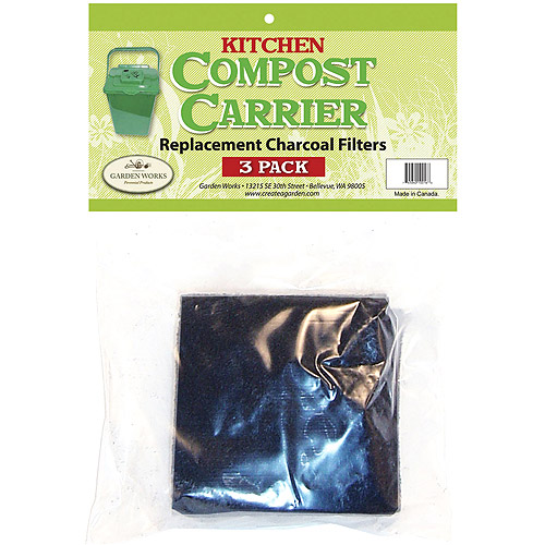 Garden Works Carbon Replacement Filters, 3pk