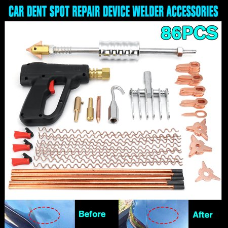 86pcs Dent Repair Puller Kit Car Body Dent Spot Removal Repair Device Welder Stud Welding Machine Pulling Hammer Tool (Best Tool For Pulling Weeds)