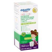Equate Children's Allergy Oral Solution, Grape, 8 fl oz