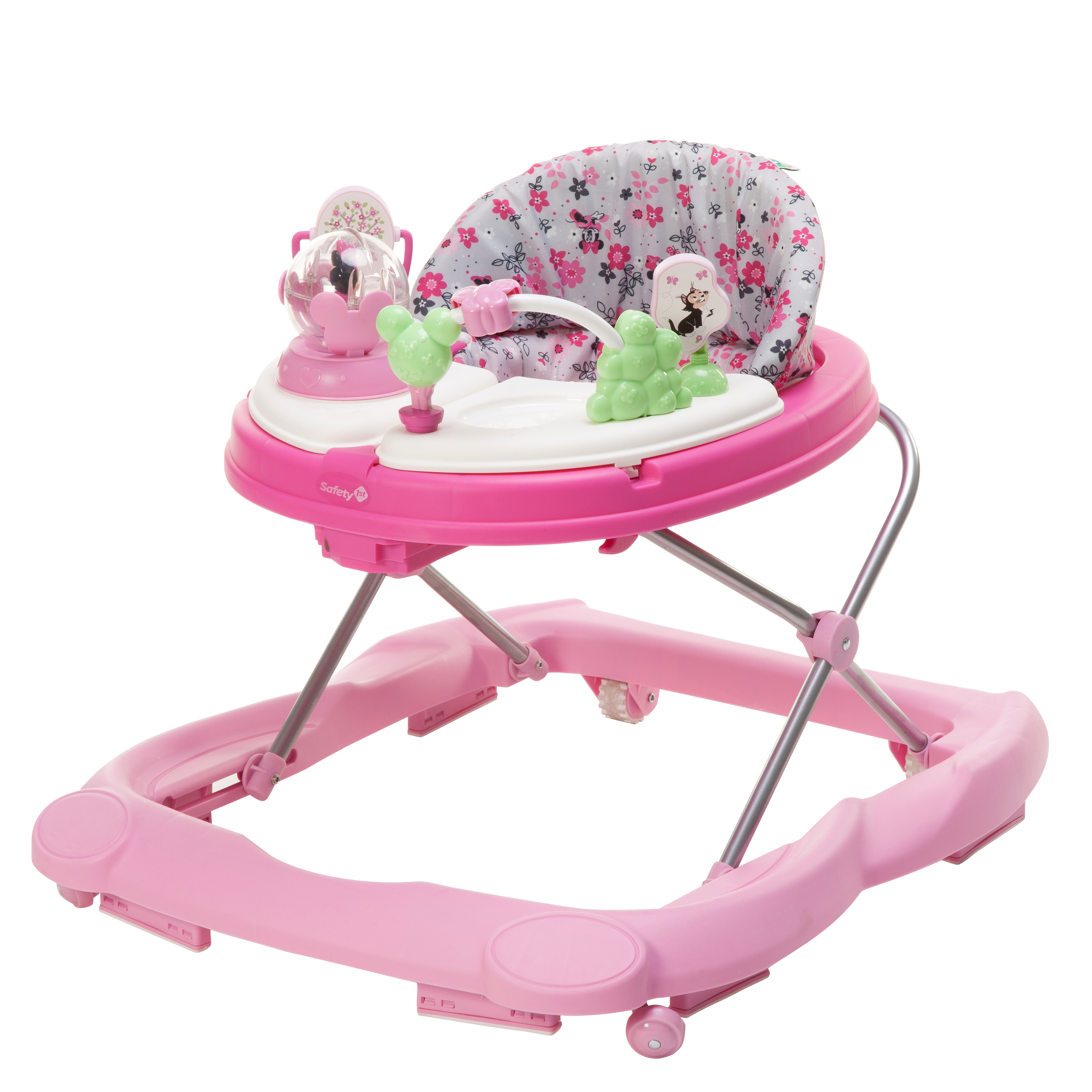 Disney Baby Music & Lights Walker with Activity Tray, Minnie Garden Delight