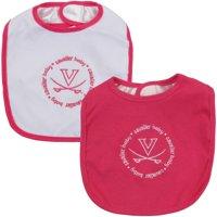 Virginia Cavaliers Infant 2-Pack Baby Bib Set - Pink/White