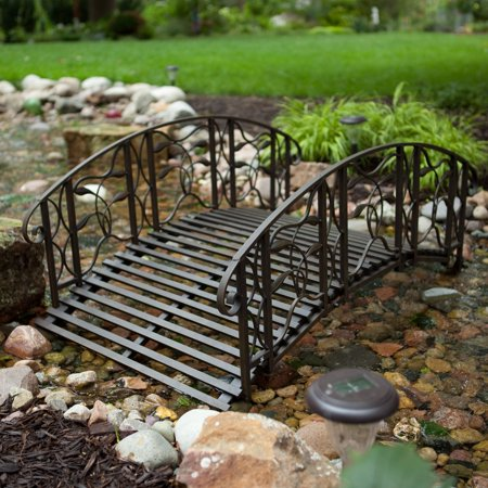 Coral Coast Willow Creek 4 Ft  Metal Garden Bridge