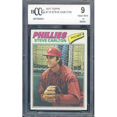 1977 topps #110 STEVE CARLTON phillies BGS BCCG 9 (Steve Carlton Merchandise)