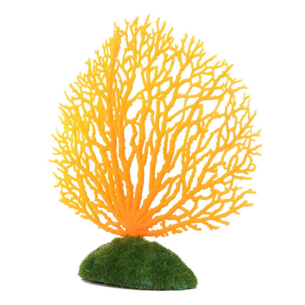 Tuscom Aquarium Decoration Artificial Coral for fish Tank Resin Ornaments Fake Plant