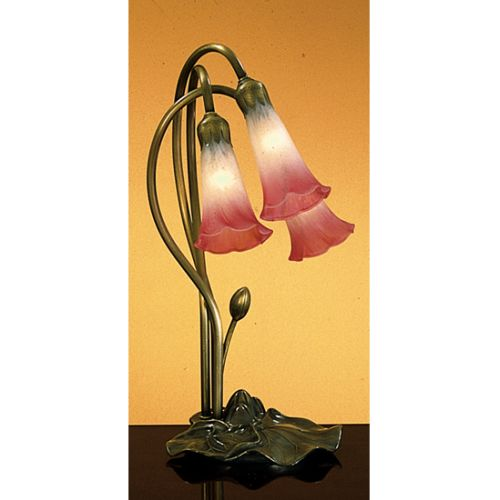 Meyda Tiffany 14813 Stained Glass / Tiffany Desk Lamp from the Lilies Collection