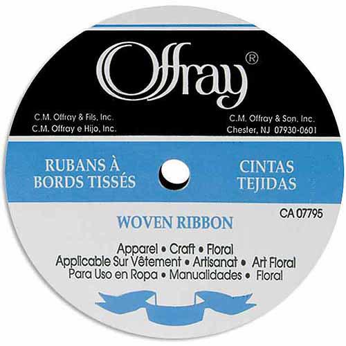 "Offray Grosgrain Ribbon, 3/8"" x 20 yds"
