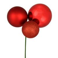 "18"" Red Ornament Pick 2/Bag"