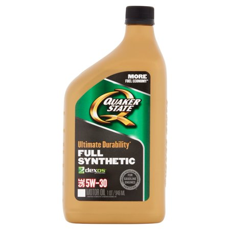 Quaker state ultimate durability full synthetic motor oil for Top rated motor oil synthetic