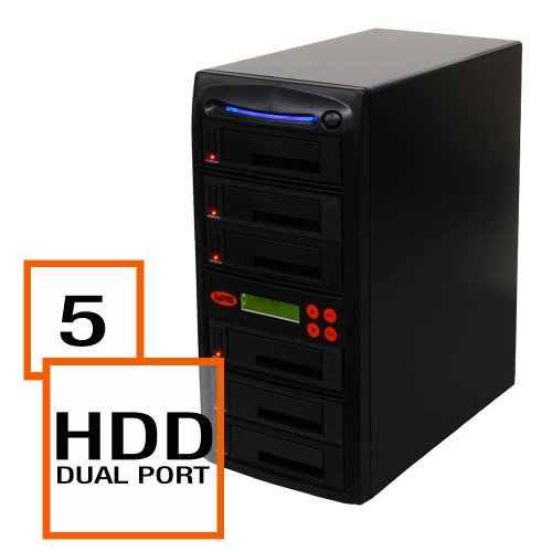 SySTOR 1:5 SATA 2.5 & 3.5 Dual Port Hot Swap Hard Disk Drive   Solid State Drive (HDD SSD) Clone Duplicator... by Systor Systems