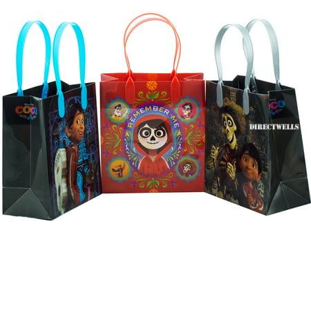 Disney Coco 12 Party Favor Reusable Goo Small Gift Bags