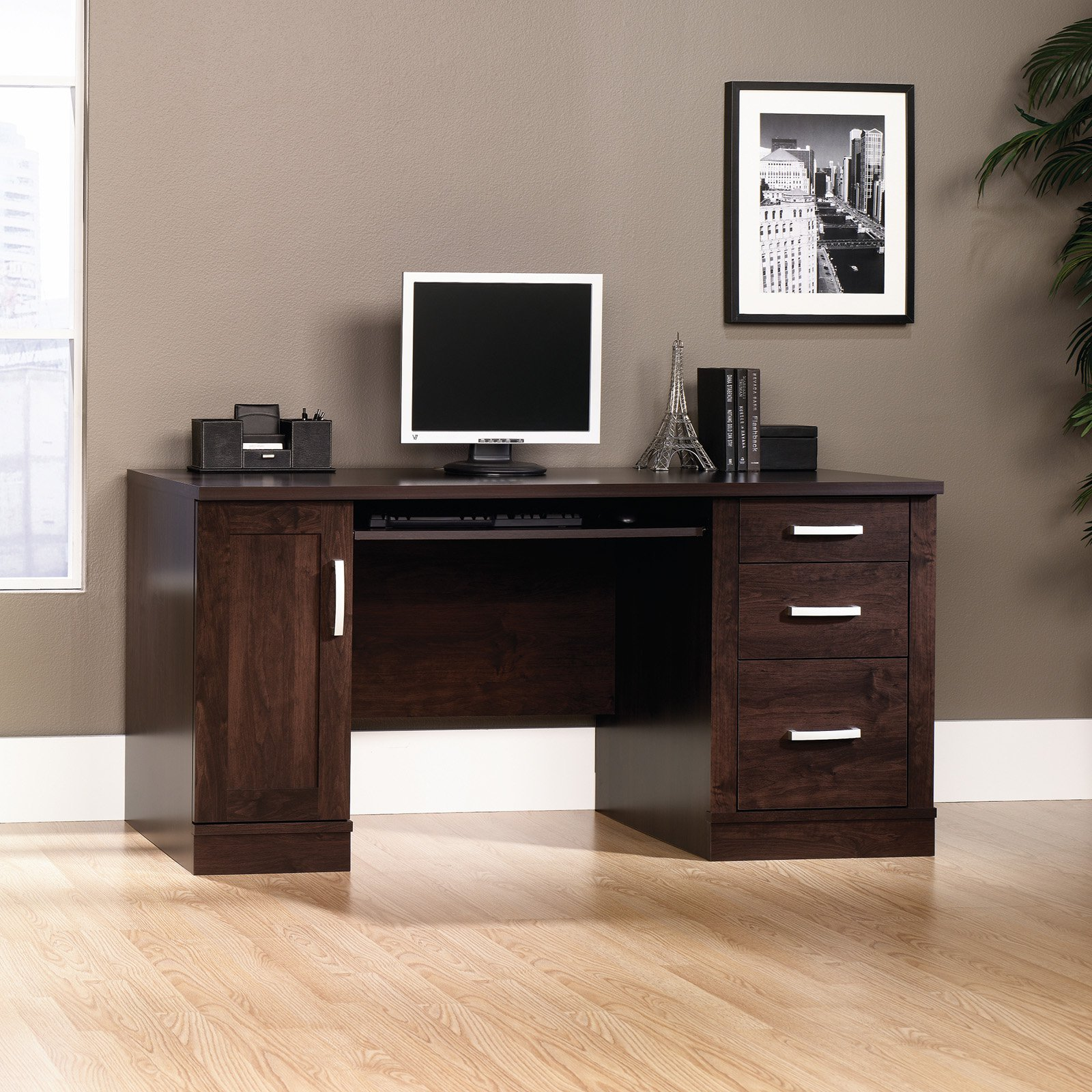 Charmant Sauder Office Port Computer Credenza Desk With Optional Hutch
