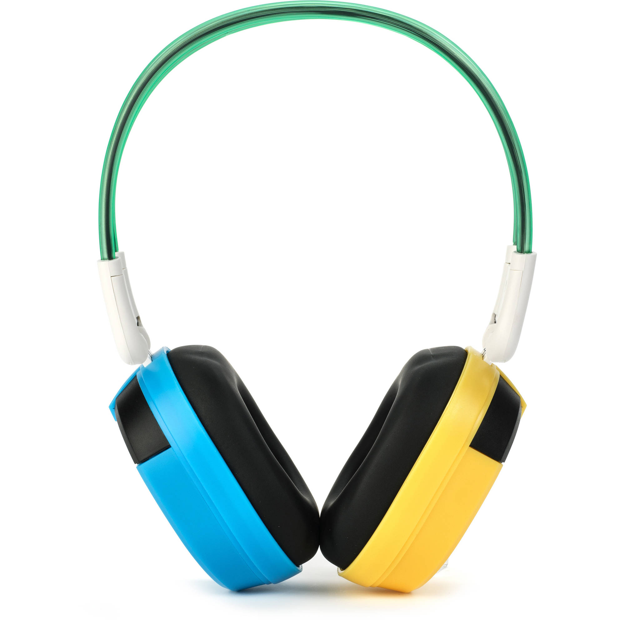 Bravo View BTS-03 Kid-Friendly Bluetooth Wireless Headphones, Blue/Yellow