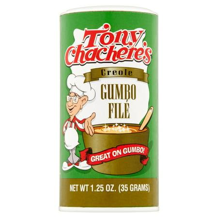 Tony Chacheres Creole Dry Gumbo File Sassafras Topping  1 25 Oz