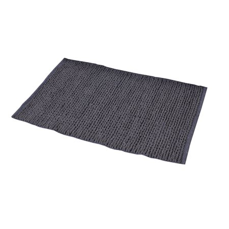 dark grey doormat 2'x3' braided area rug for kitchen entry