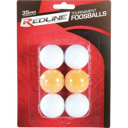 Red Foosball, 6-Pack