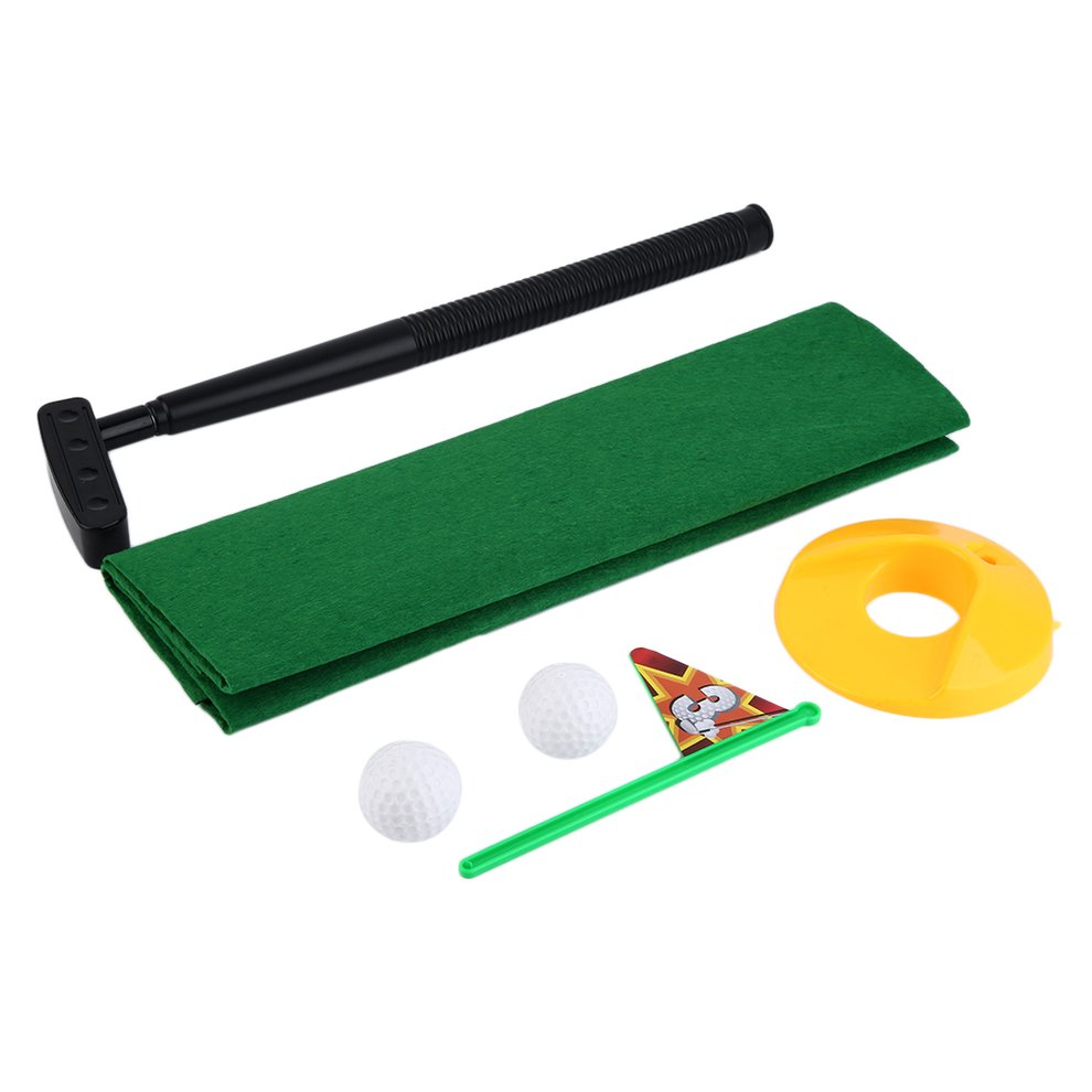 Funny Potty Putter Toilet Time Mini Set Toilet Golf Game Novelty Gag Gift Toy Mat Helps Improve Putting Golf... by