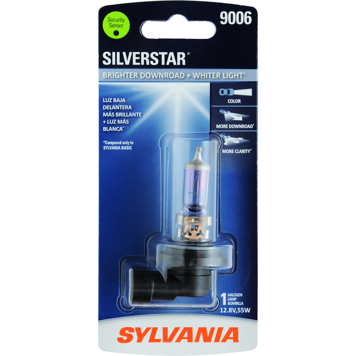 SYLVANIA 9006 SilverStar Halogen Headlight Bulb, Pack of 1
