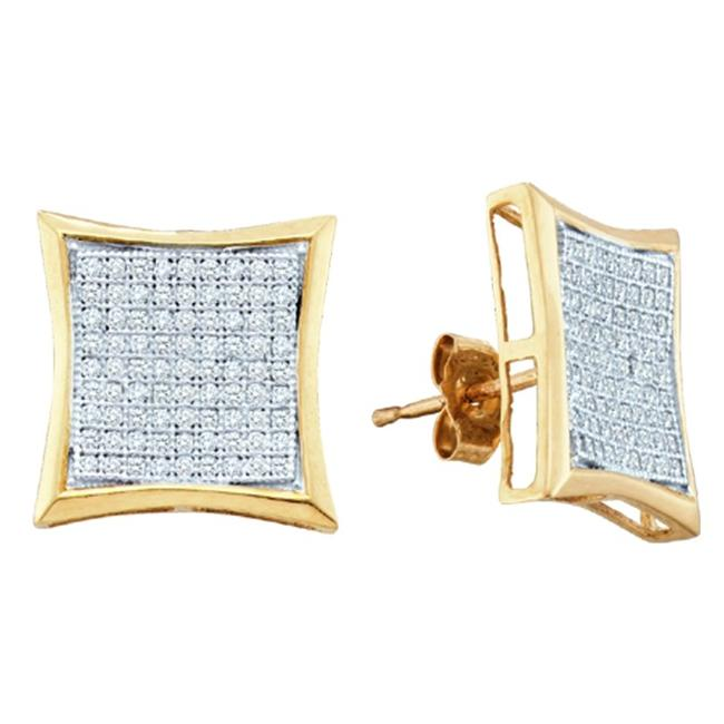 Gold and Diamonds EF7651-W 0. 50CT-DIA MICRO-PAVE EARRINGS