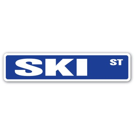 SKI Street Sign snow watersports skis goggle sport | Indoor/Outdoor |  24