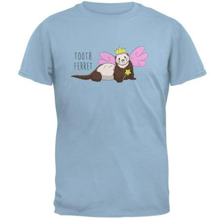 Tooth Fairy Ferret Pun Mens T Shirt (Short Tooth)