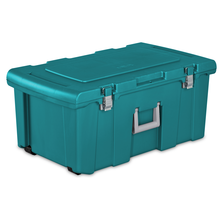 superb Teal Storage Trunk Part - 18: Sterilite, Footlocker, Case of 1 - Walmart.com