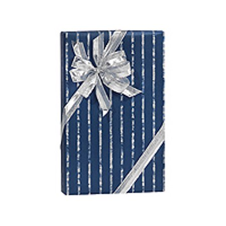 Navy Blue Band Birthday / Special Occasion Gift Wrap Wrapping Paper-16ft - Blue Gift Wrap