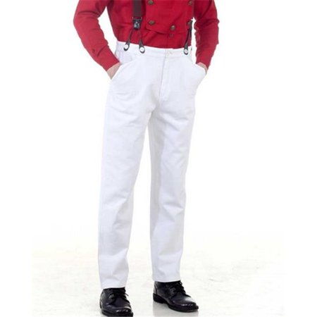The Pirate Dressing C1330 Steampunk Classic Pants, White - 2XL (Steampunk Suit)