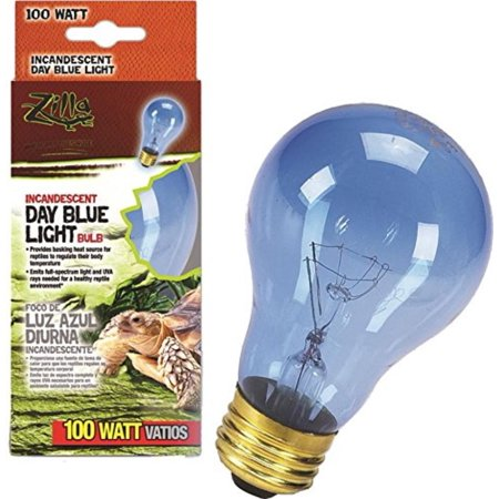 09918 Day Blue Light Incandescent Bulb, 100-Watt, Provides basking heat source for reptiles to regulate their body temperature By Zilla