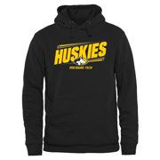 Michigan Tech Huskies Double Bar Pullover Hoodie - Black