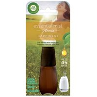 Air Wick Essential Mist Refill, 1 ct, Happiness, Air Freshener, Essential Oils Diffuser, Aromatherapy, Air Freshener