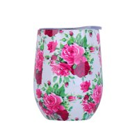 Modern Types 12oz Wine Tumbler Cup Vacuum Insulated Double Wall Flask Stainless Steel Travel Mug