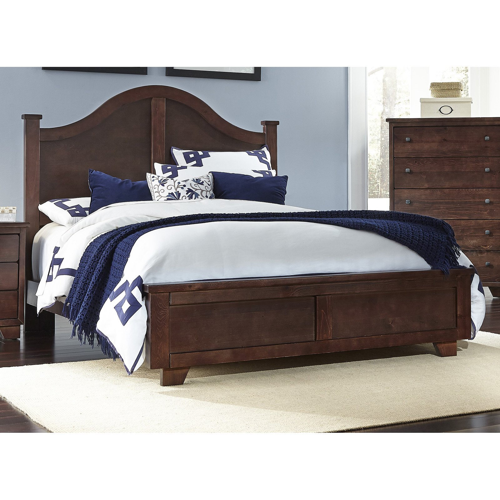 Progressive Furniture Diego Arched Panel Bed