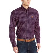Cinch Western Shirt Mens L/S Dyed Buttons Weave Navy MTW1104113