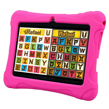 7 inch Pink Android 4.4 Tablet PC Quad Core HD 16GB KitKat Dual Camera WiFi Bundle Case for Kids