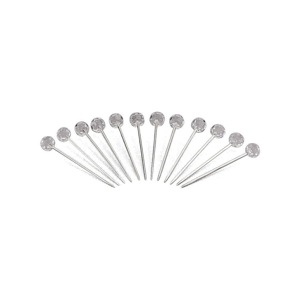 Leeber Silver Plated Martini Picks With Crystal, Set of 12 by Leeber