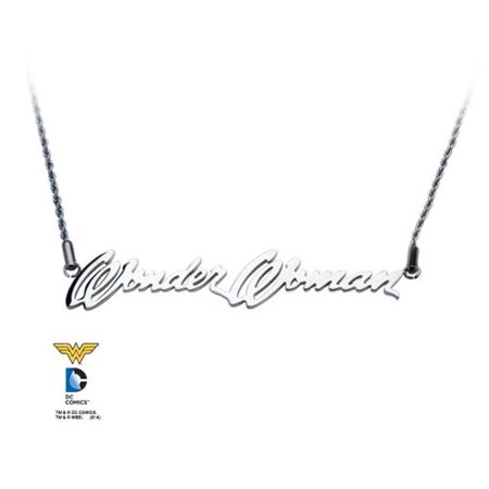 Steel Script Logo Stainless Steel Necklace