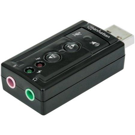 Manhattan 151429 Hi-Speed USB 3D 7.1 Surround Sound (Best 7.1 Surround Sound Speaker System)