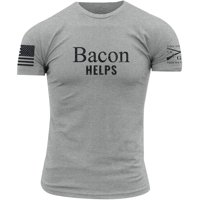 8a9a31cc Product Image Grunt Style Bacon Helps Crewneck T-Shirt - Heather Gray