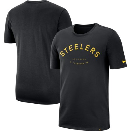 official photos bf228 ae655 Pittsburgh Steelers Nike Heavyweight Arch Throwback T-Shirt - Black