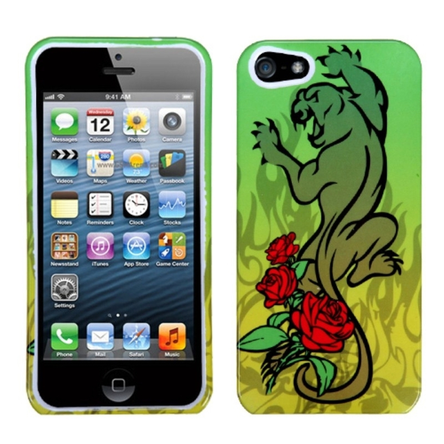 Insten Cougar Rose Phone Case for Apple iPhone SE / 5S / 5