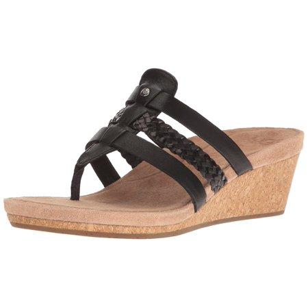 - Ugg Australia Womens Maddie Leather Open Toe Casual Platform Sandals