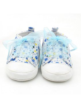 296c2ab1a35c JLONG Cute Toddler Girls Lace Floral Anti-slip Princess Crib Shoes