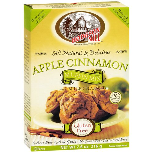 Hodgson Mill Apple Cinnamon Muffin Mix With Milled Flaxseed, 7.6 oz by Hodgson Mill Inc.