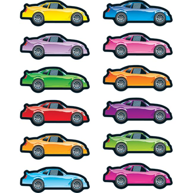 Race Cars Shape Stickers - image 1 of 1