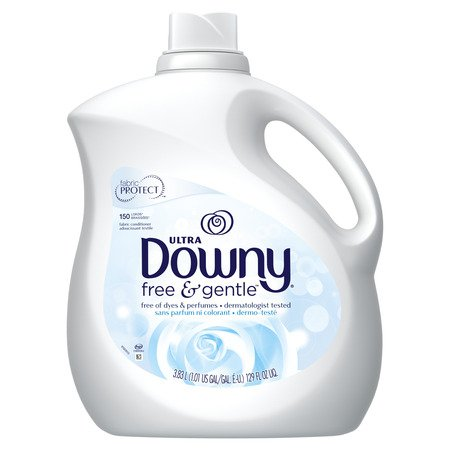 Downy Ultra Liquid Fabric Conditioner (Fabric Softener), Free & Gentle, 150 Loads 129 fl oz Ultra Downy Fabric