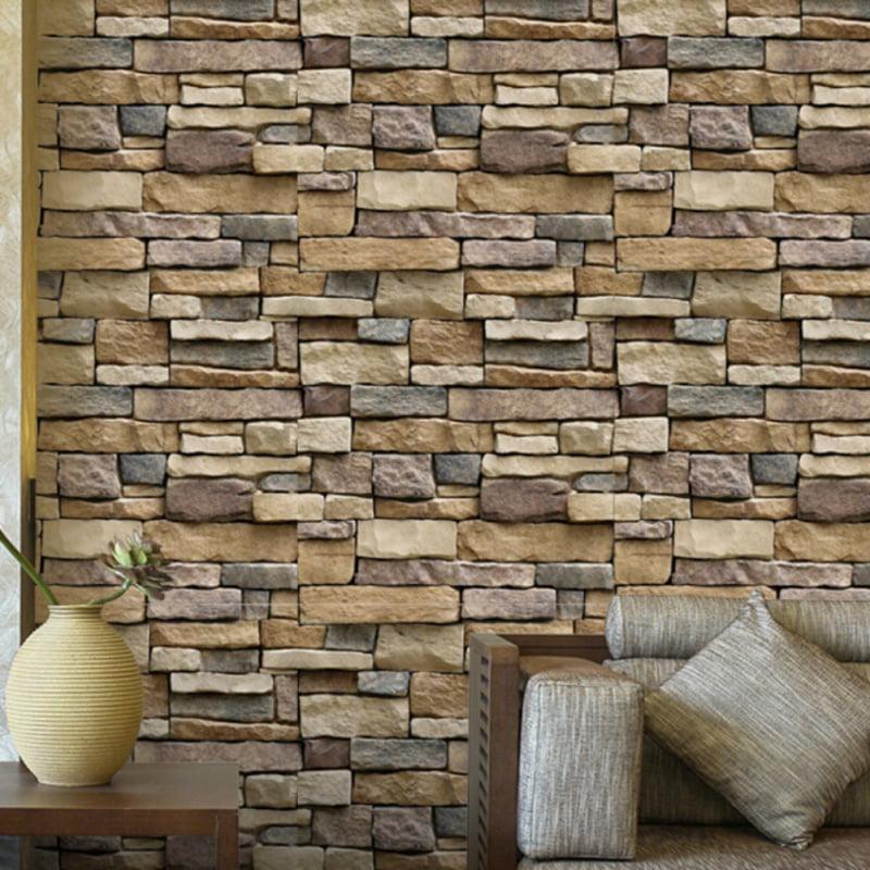 Details about  /10pcs 3D Tile Brick Wall Sticker Self-adhesive Waterproof Foam Panel Stick