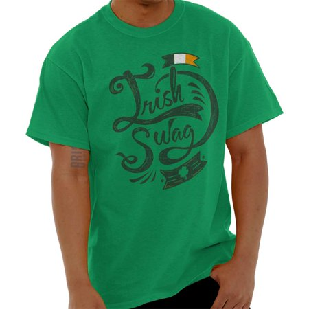 Brisco Brands Lucky Irish Swag St Pattys Day Short Sleeve Adult T-Shirt](St Paddys Day Outfits)