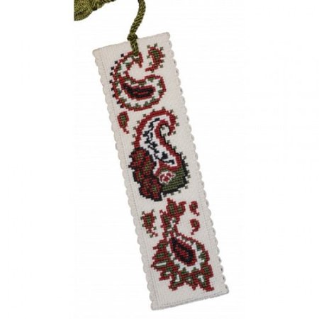 Textile Heritage Counted Cross Stitch Bookmark Kit - Paisley Pattern
