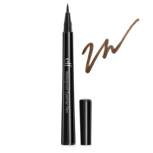 e.l.f. Studio 0.06oz Essential Waterproof Eyeliner Makeup Pen, COFFEE, 7301